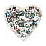 Frosted Heart Snapshot Mix® Photo Art Foil Pressed Photo Art Print By Minted