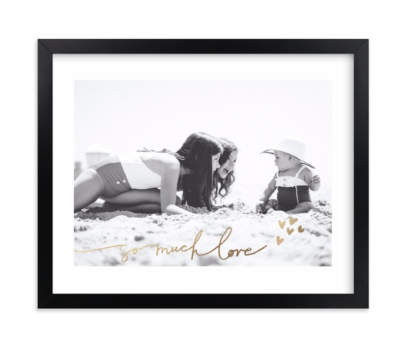 """""""Much Love"""" - Foil Pressed Photo Art Print by Kelly Ventura in beautiful frame options and a variety of sizes."""