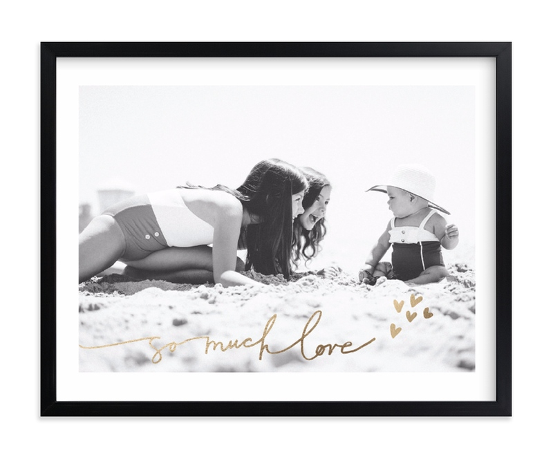 """Much Love"" - Foil Pressed Photo Art Print by Kelly Ventura in beautiful frame options and a variety of sizes."