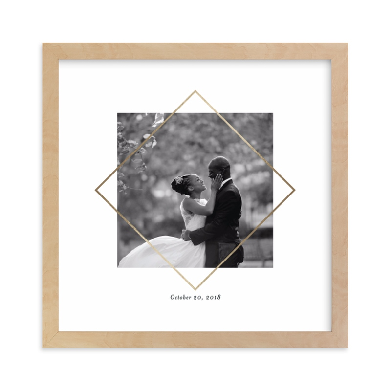 """Love Frame"" - Foil Pressed Photo Art Print by Snow and Ivy in beautiful frame options and a variety of sizes."
