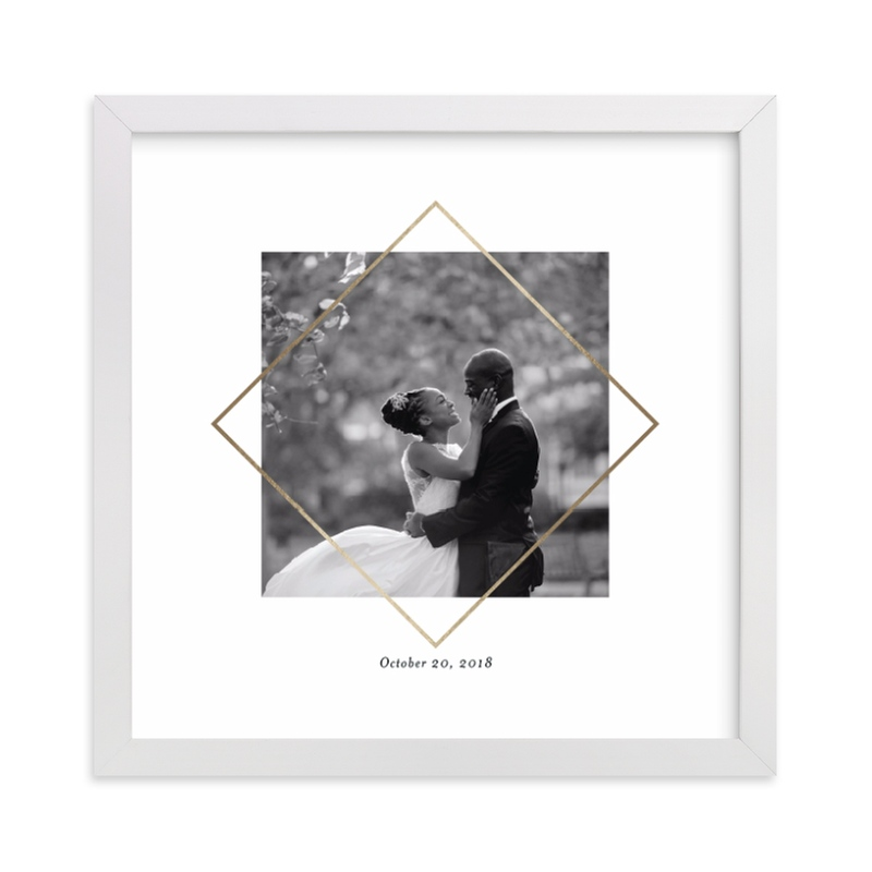 This is a gold foil stamped photo art by Snow and Ivy called Love Frame with foil-pressed.