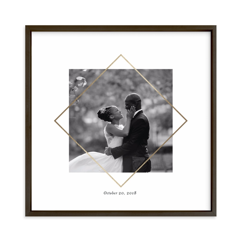 Love Frame Foil Pressed Photo Art Print