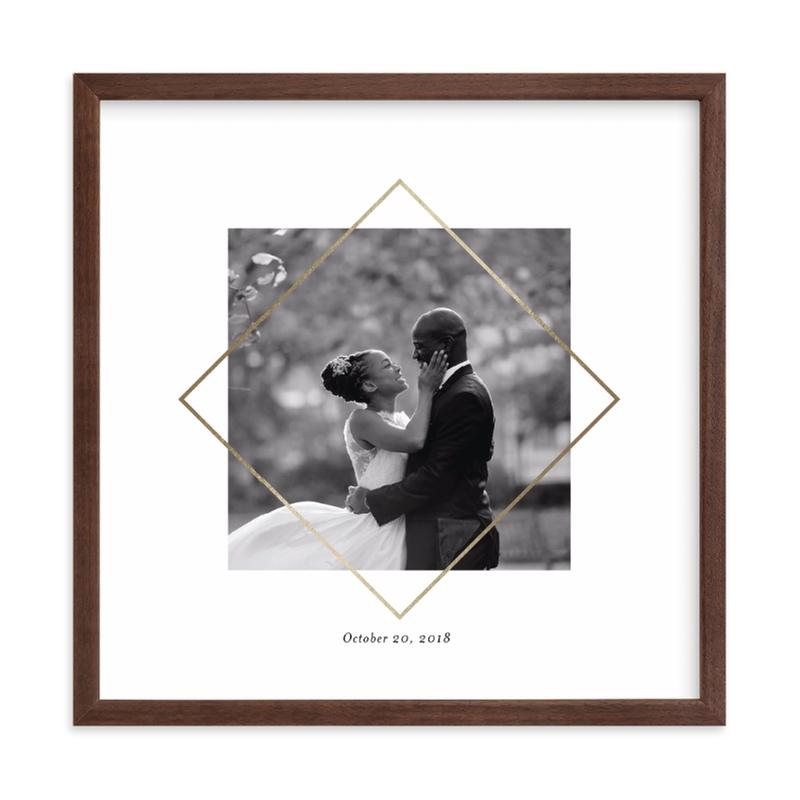 Love Frame Foil Pressed Photo Art Print