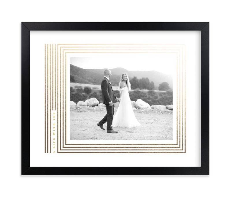 """Tailored stripe"" - Foil Pressed Photo Art Print by kelli hall in beautiful frame options and a variety of sizes."