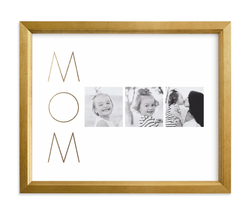 """Mom Made Elegant"" - Foil Pressed Photo Art Print by Up Up Creative in beautiful frame options and a variety of sizes."