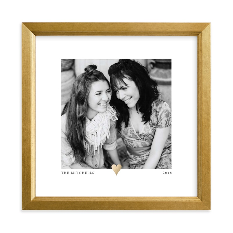"""""""With a Heart Foil"""" - Foil Pressed Photo Art Print by Laura Hamm in beautiful frame options and a variety of sizes."""