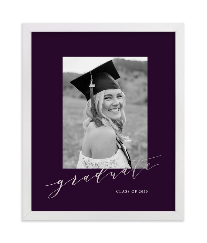 This is a purple foil stamped photo art by Jennifer Postorino called Scripted with foil-pressed.