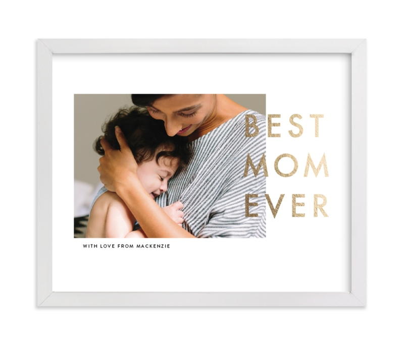 This is a gold foil stamped photo art by seulghi called Best Mom Ever with foil-pressed.
