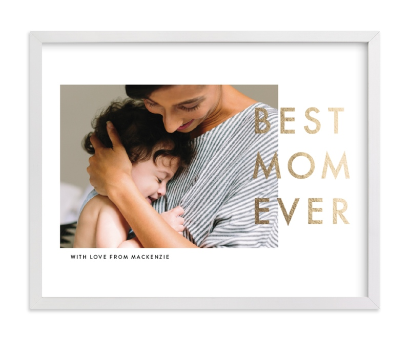 This is a gold foil stamped photo art by seulghi called Best Mom Ever.