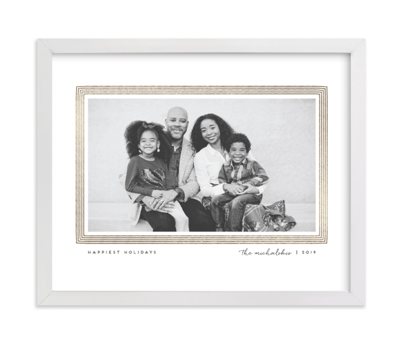 This is a white foil stamped photo art by Snow and Ivy called Drawn Frame with foil-pressed.