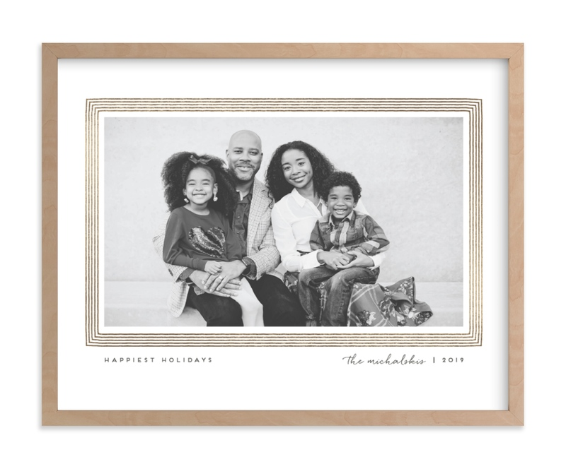 """""""Drawn Frame"""" - Foil Pressed Photo Art Print by Snow and Ivy in beautiful frame options and a variety of sizes."""