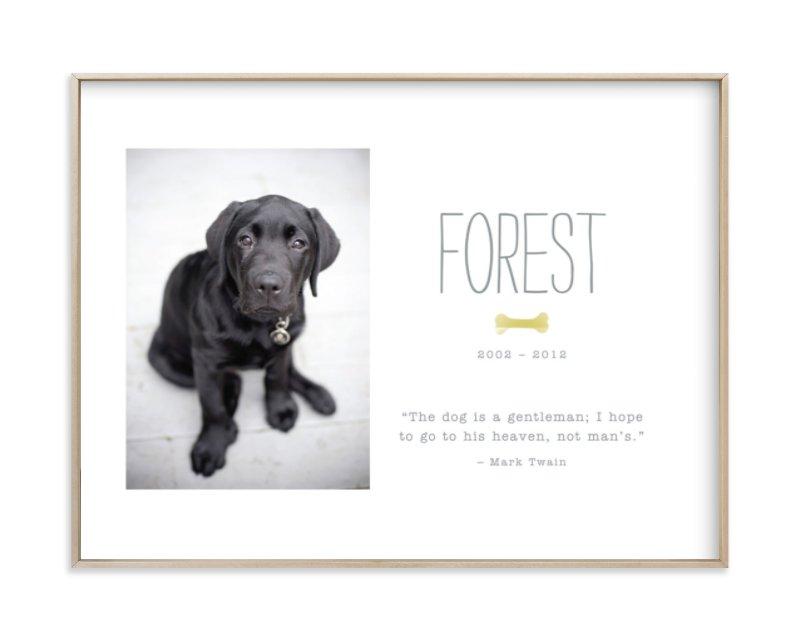 Doggie Heaven Custom Photo Art Print