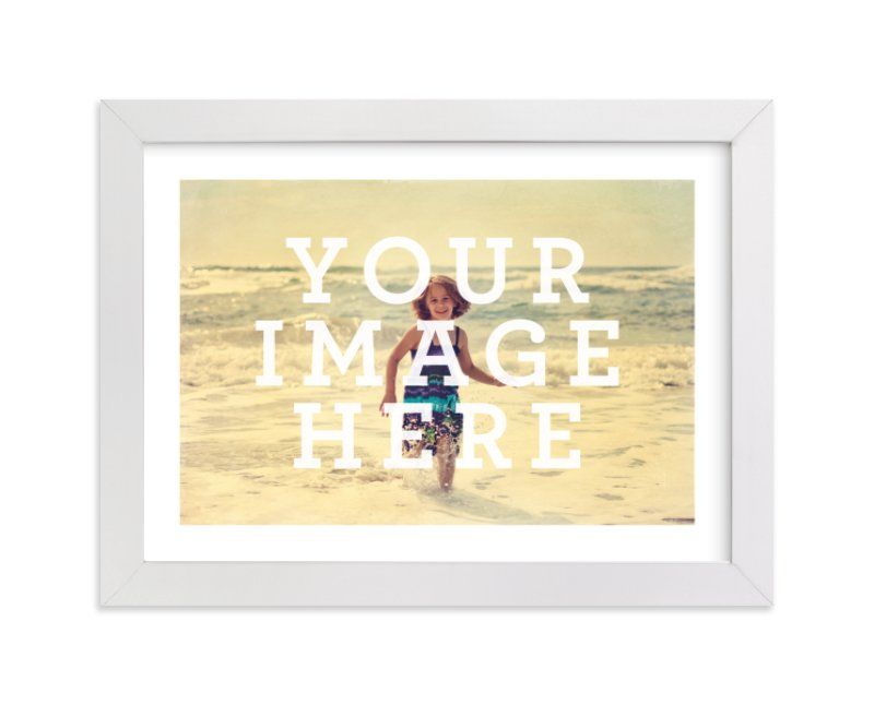 This is a white photo art by Minted called The Big Picture.