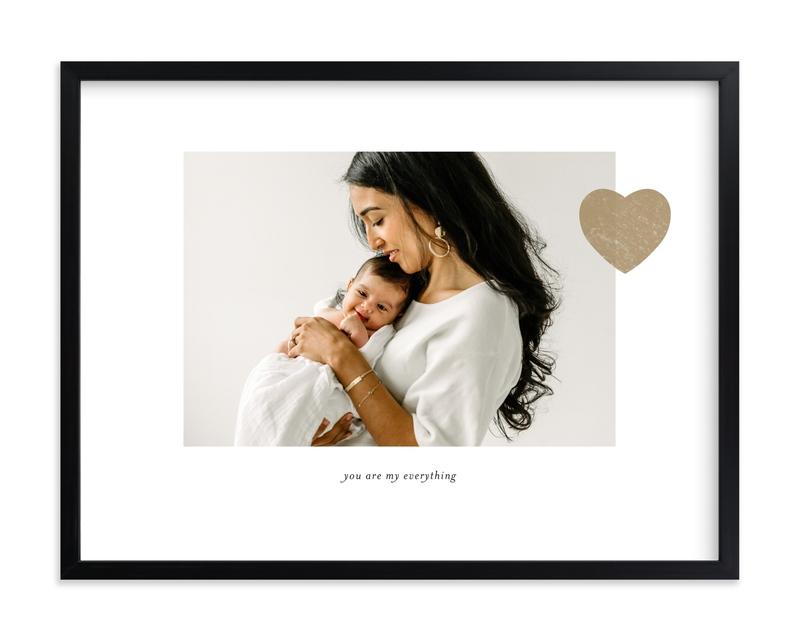 Mom Love - Landscape Custom Photo Art Print