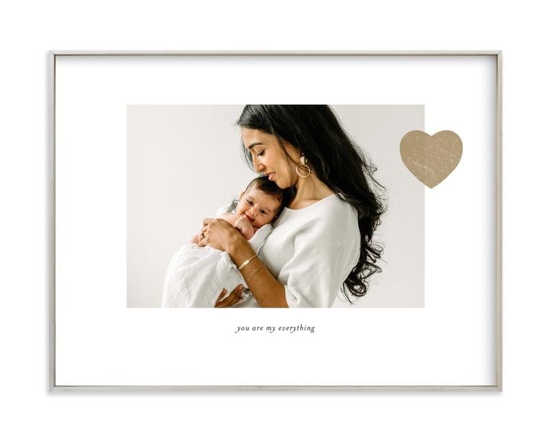 Mom Love - Landscape Custom Photo Art Print