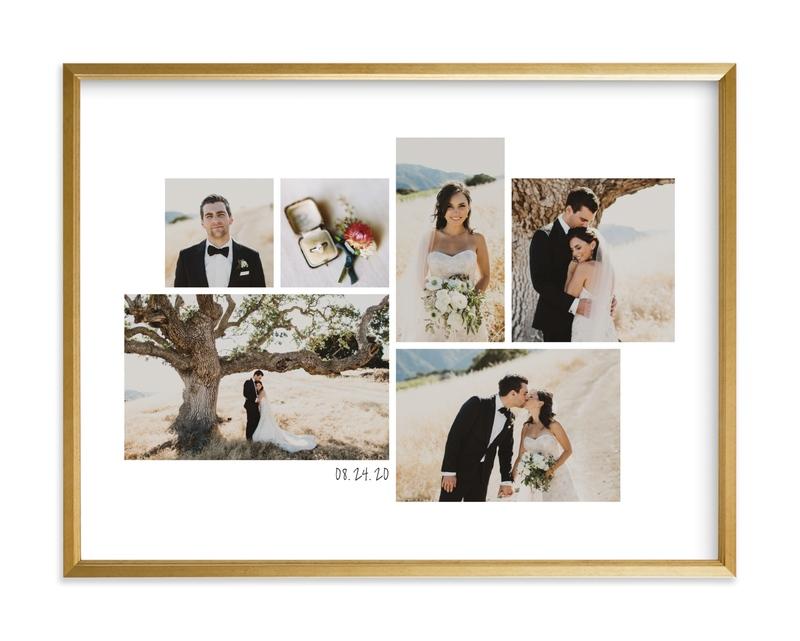 Wedding Moments Landscape Custom Photo Art Print