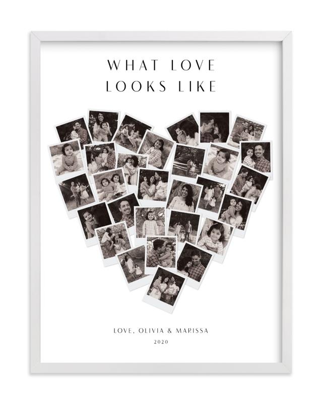 What Love Looks Like Heart Snapshot Mix® Custom Photo Art Print