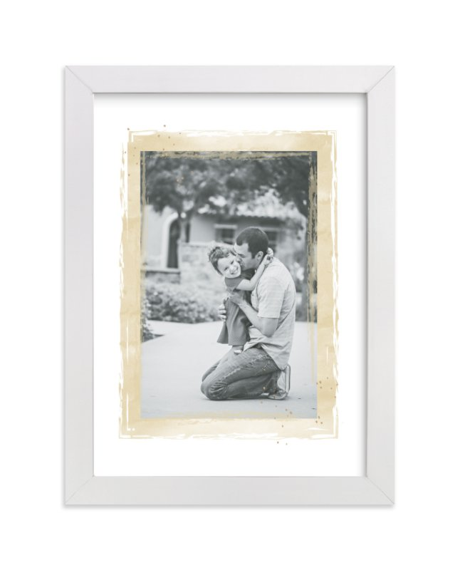 This is a beige photo art by Grace Kreinbrink called Mod Dot Watercolor Frame.