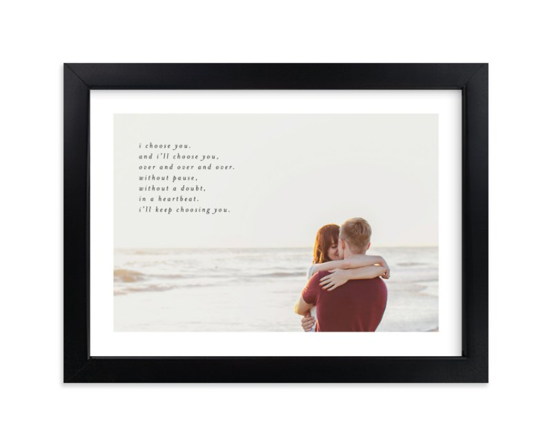 """""""Minimalist Quote Keepsake"""" - Custom Photo Art Print by Phrosne Ras in beautiful frame options and a variety of sizes."""
