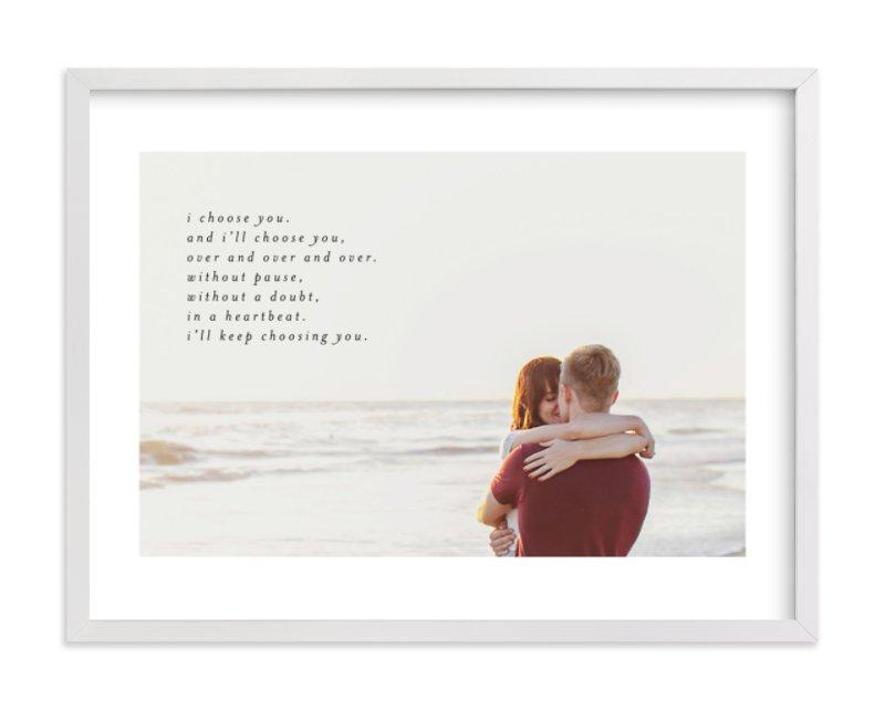 Minimalist Quote Keepsake Custom Photo Art Print