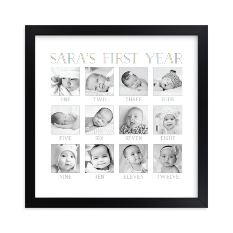 Babys First Year Custom Photo Art Print By Erin Deegan