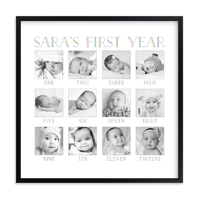 """Baby's First Year"" - Custom Photo Art Print by Erin Deegan in beautiful frame options and a variety of sizes."