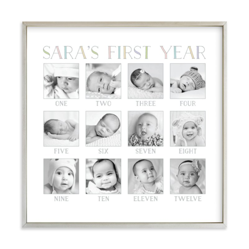 Baby's First Year Custom Photo Art Print