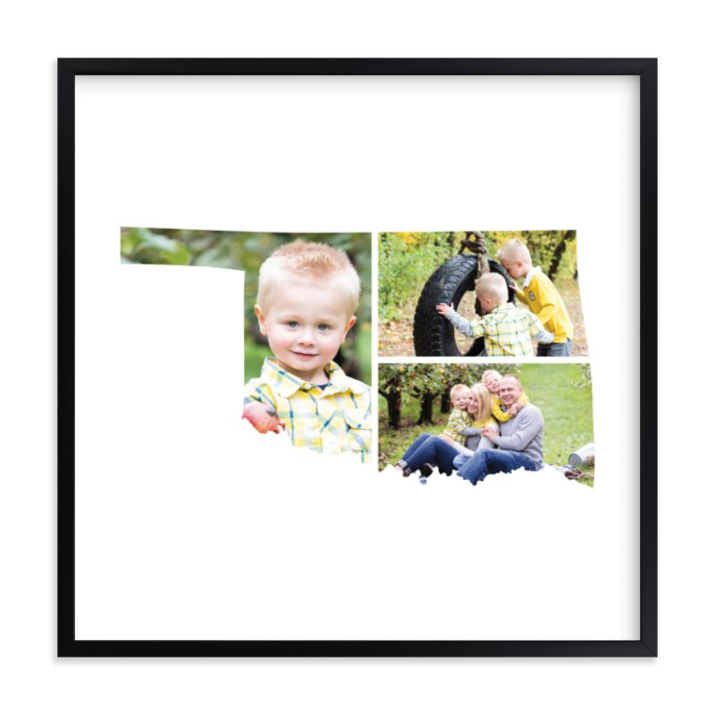 Oklahoma Love Location - family picture frames