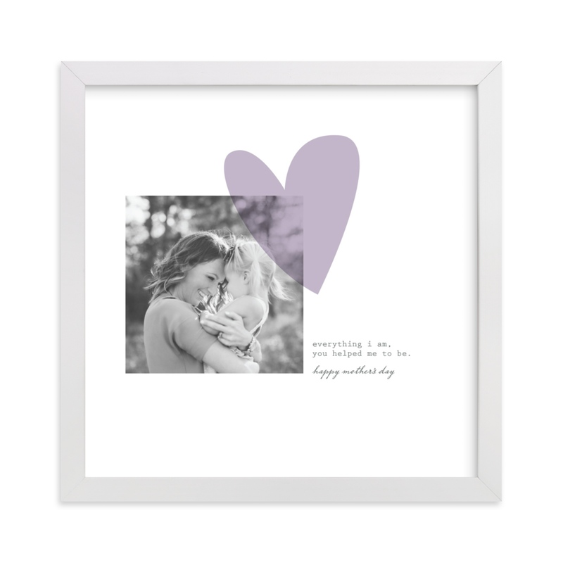 This is a purple photo art by Aspacia Kusulas called Simply Love with standard.