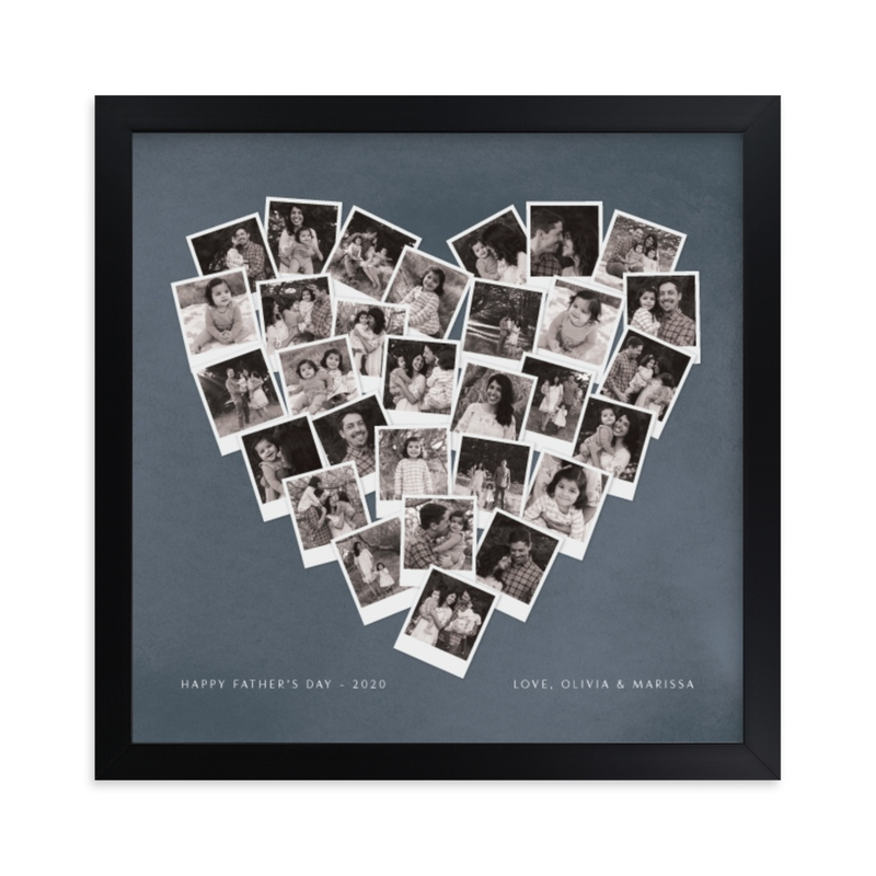 """""""Father's Day Heart Snapshot Mix®"""" - Custom Photo Art Print by Minted in beautiful frame options and a variety of sizes."""