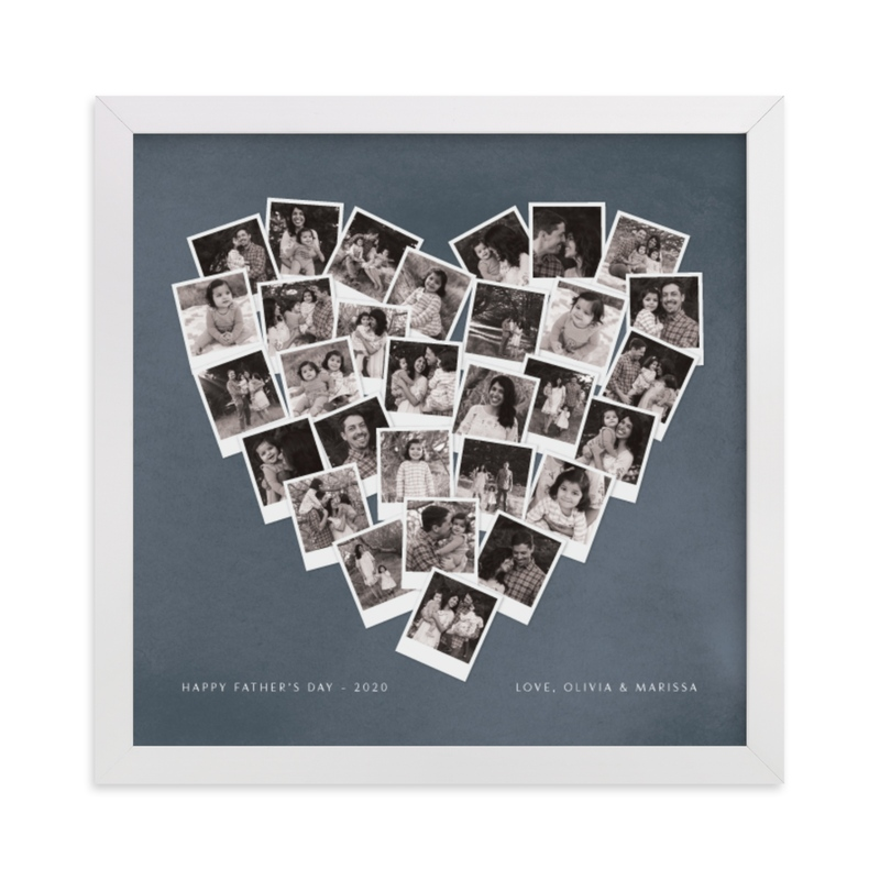 This is a blue photo art by Minted called Father's Day Heart Snapshot Mix® with standard.