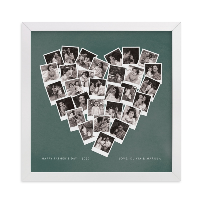 This is a green photo art by Minted called Father's Day Heart Snapshot Mix® with standard.