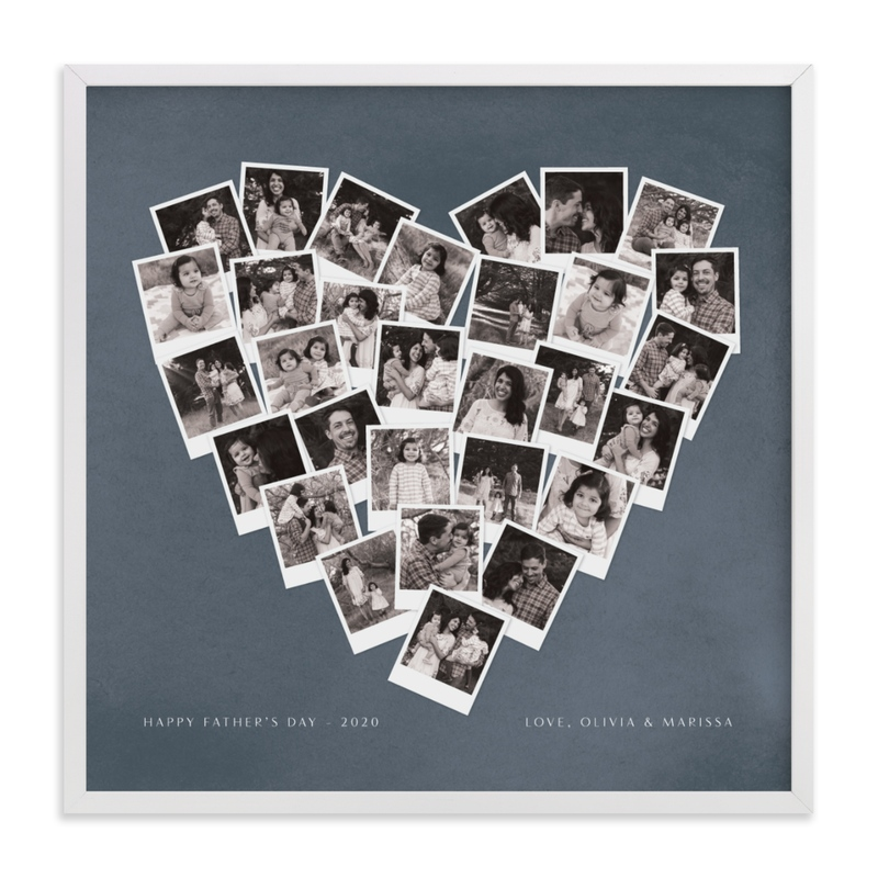 Father's Day Heart Snapshot Mix® Custom Photo Art Print