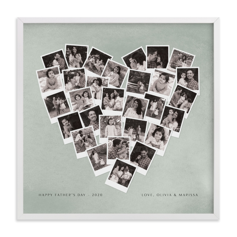 Father's Day Heart Snapshot Mix® Custom Photo Art Print