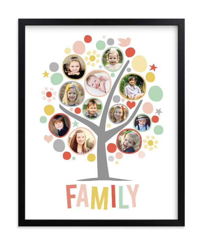 """My Funny Family Tree"" - Custom Photo Art Print by Jessie Steury in beautiful frame options and a variety of sizes."
