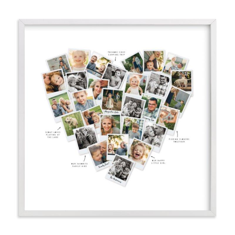 Captioned Heart Snapshot Mix® Photo Art Custom Photo Art Print