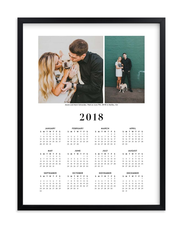 """""""Wedding Photo Calendar (Two Photo)"""" - Custom Photo Art Print by Minted in beautiful frame options and a variety of sizes."""