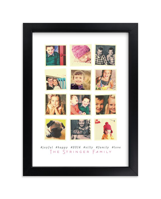 """""""Insta-grid"""" - Custom Photo Art Print by Up Up Creative in beautiful frame options and a variety of sizes."""
