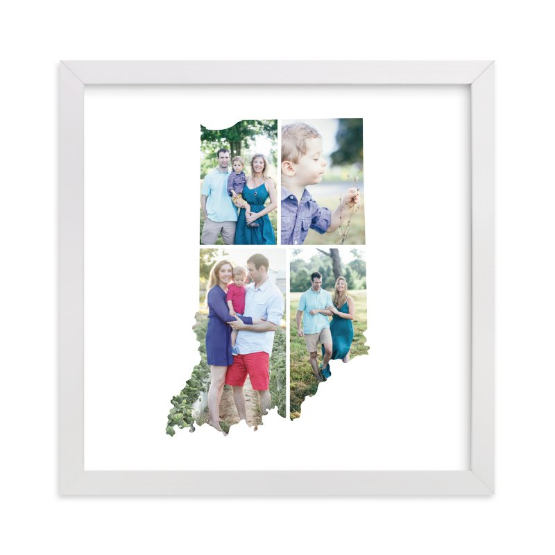 This is a white photo art by Heather Buchma called Indiana Love Location with standard.