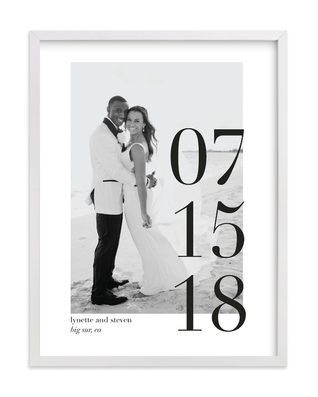 """Big Date"" - Custom Photo Art Print by Bethany Anderson in beautiful frame options and a variety of sizes."