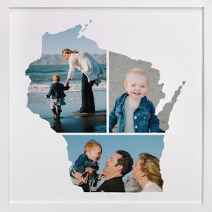 Wisconsin Love Location Custom Photo Art Print