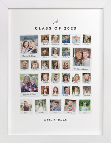 Class Snapshot Gallery Custom Photo Art Print