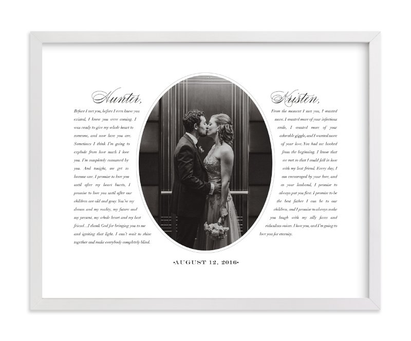 This is a black and white photo art by Sarah Curry called Our Vows.