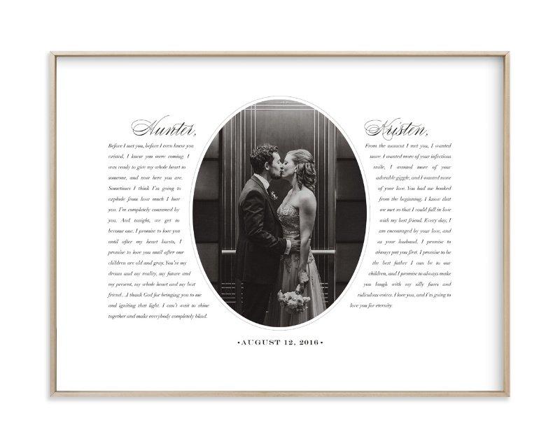 Our Vows Custom Photo Art Print
