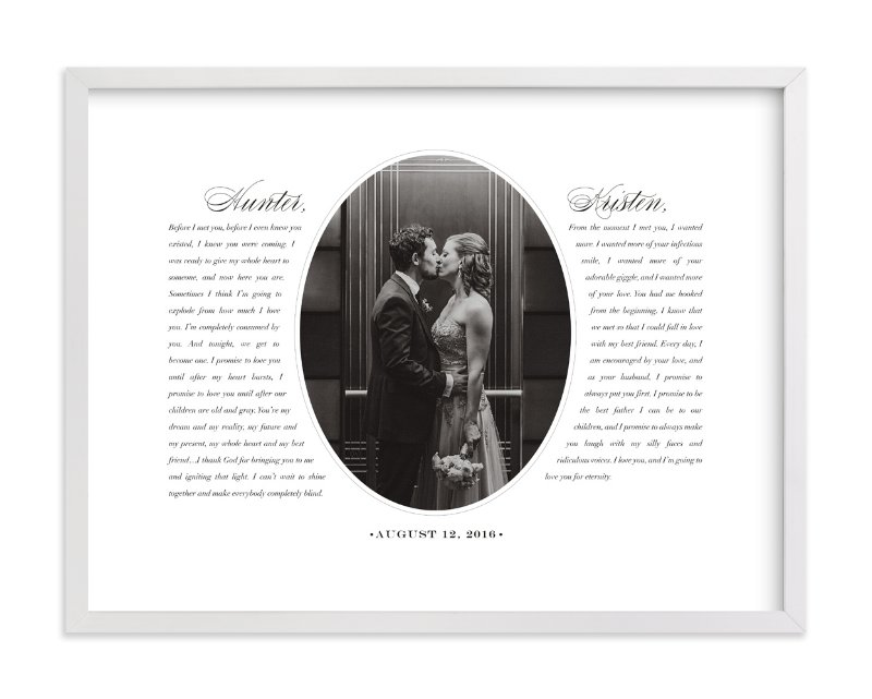 Our Vows Custom Photo Art Print