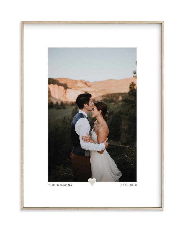 With a Heart - Portrait Custom Photo Art Print