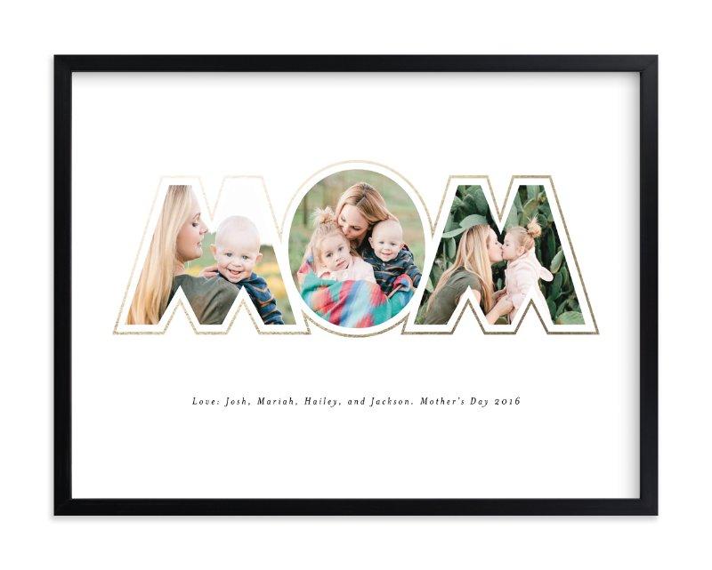 Golden Mom Custom Photo Art Print