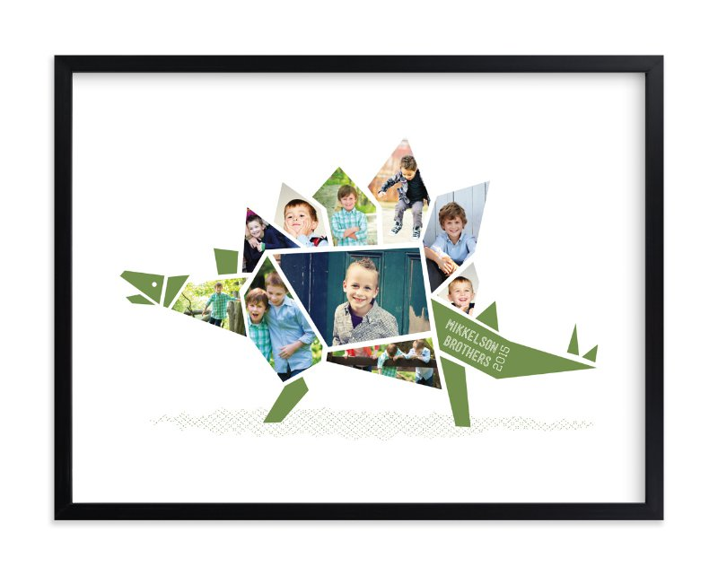 Stegosaurus - Kids photo collage wall decor