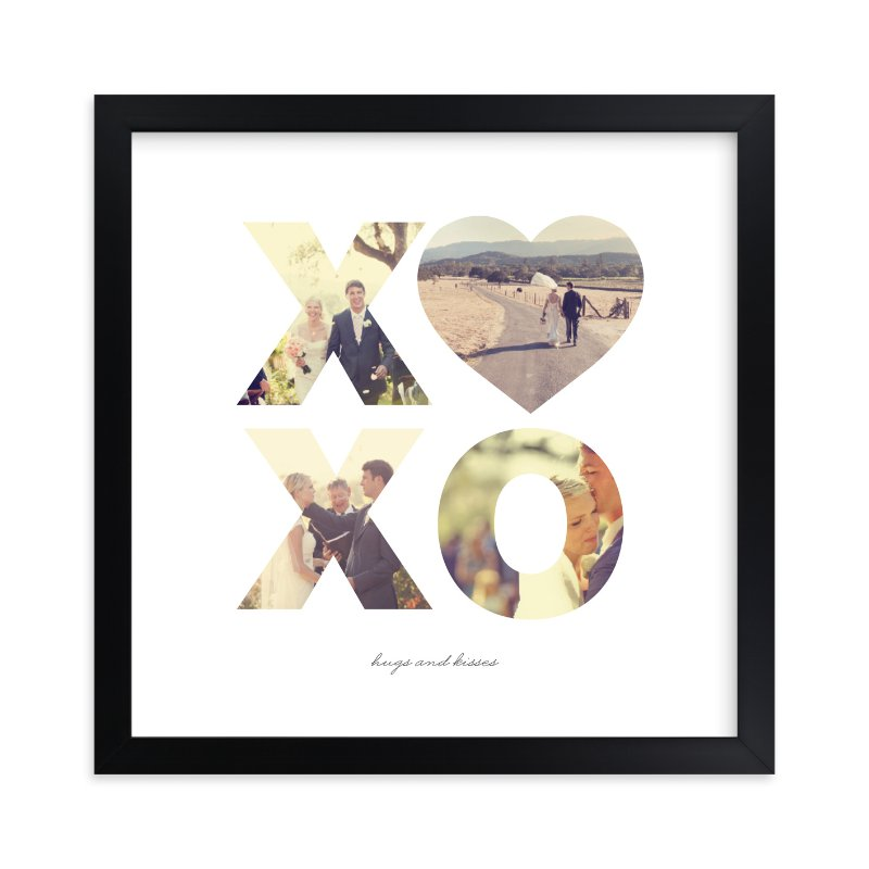"""Hugs and Kisses"" - Custom Photo Art Print by Carolina Carezis in beautiful frame options and a variety of sizes."