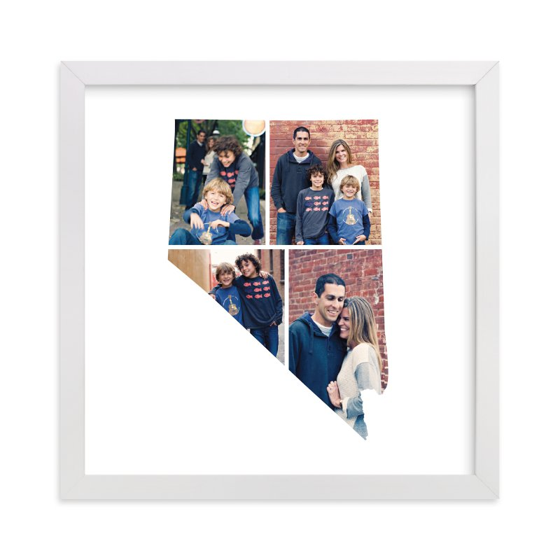 This is a white photo art by Heather Buchma called Nevada Love Location with standard.